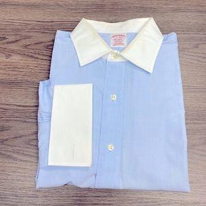 Brooks Brothers Blue White Collar Shirt 17-33